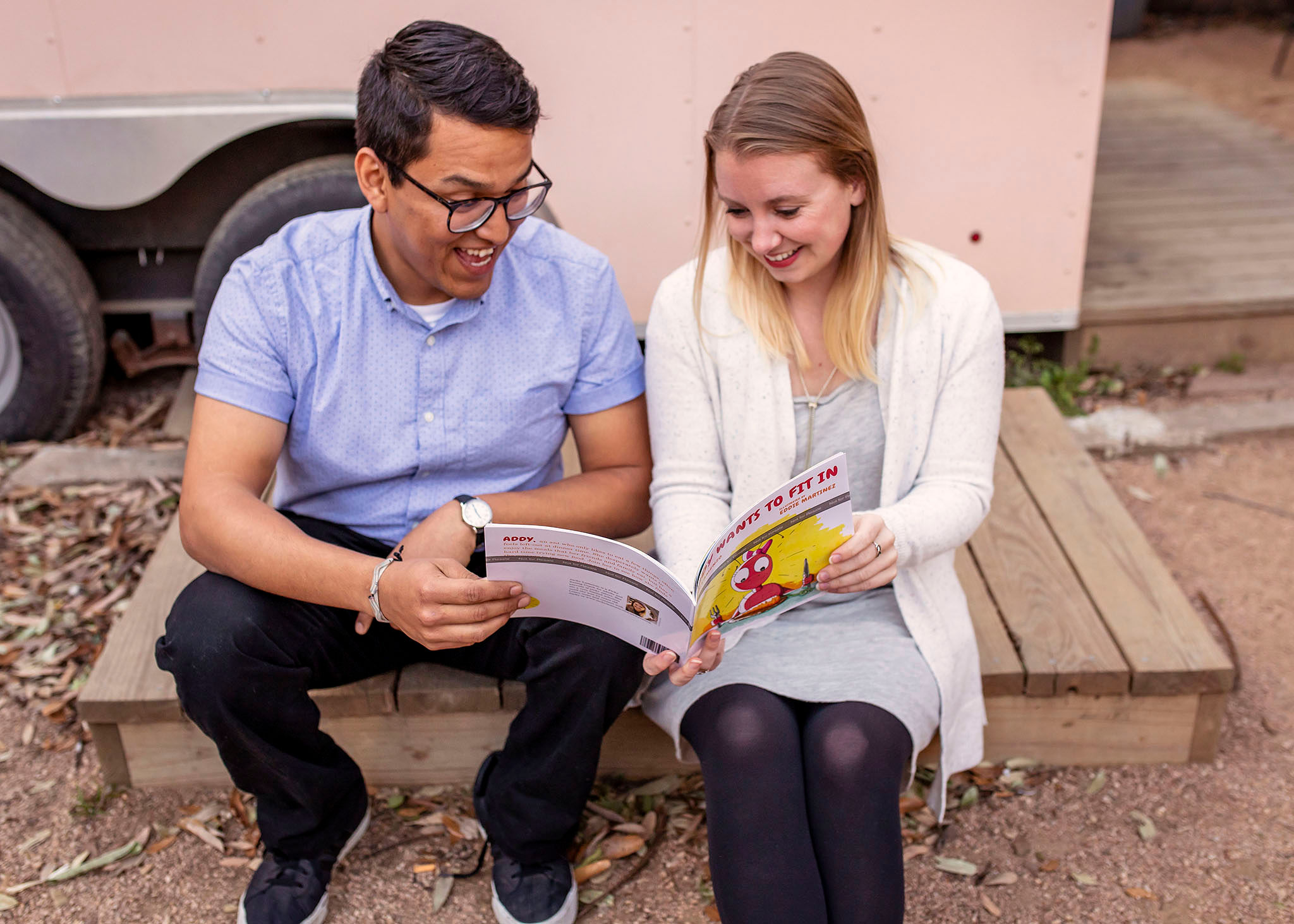 Eddie Martinez, Illustrator + Jacky Lamenzo, Author. Photo by MA BELLE Photography
