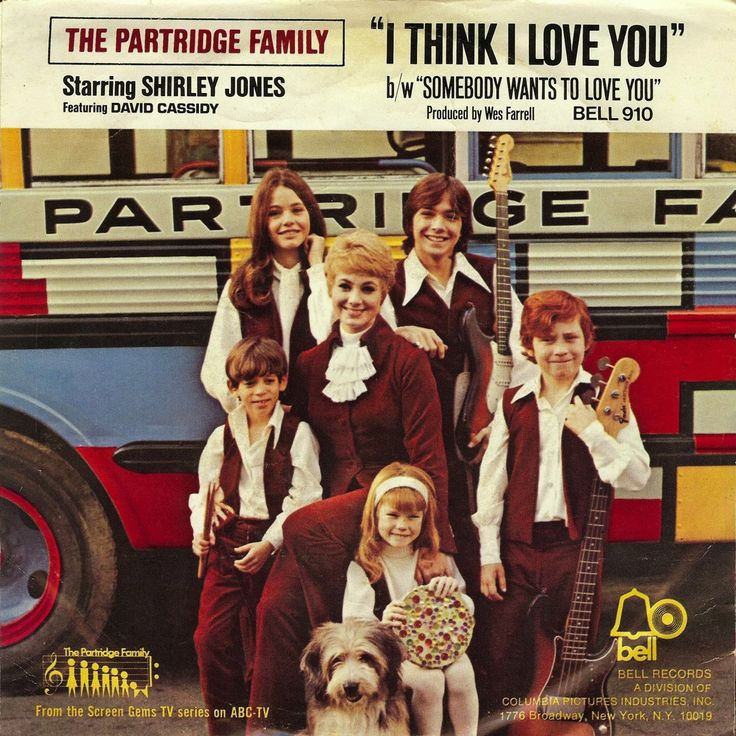 """Picture Sleeve from Bell 910 45 rpm release of """"I Think I Love You"""""""