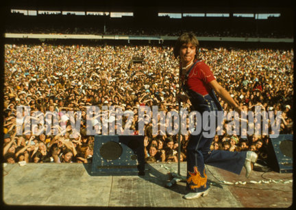 "David Cassidy at Melbourne Cricket Ground in Austaralia, 1974. This Henry Diltz photo is available as a premium on our campaign at Kickstarter.com for the release of ""When We're Singin' - The Partridge Family and Their Music."" Offer ends May 31! Hurry!"