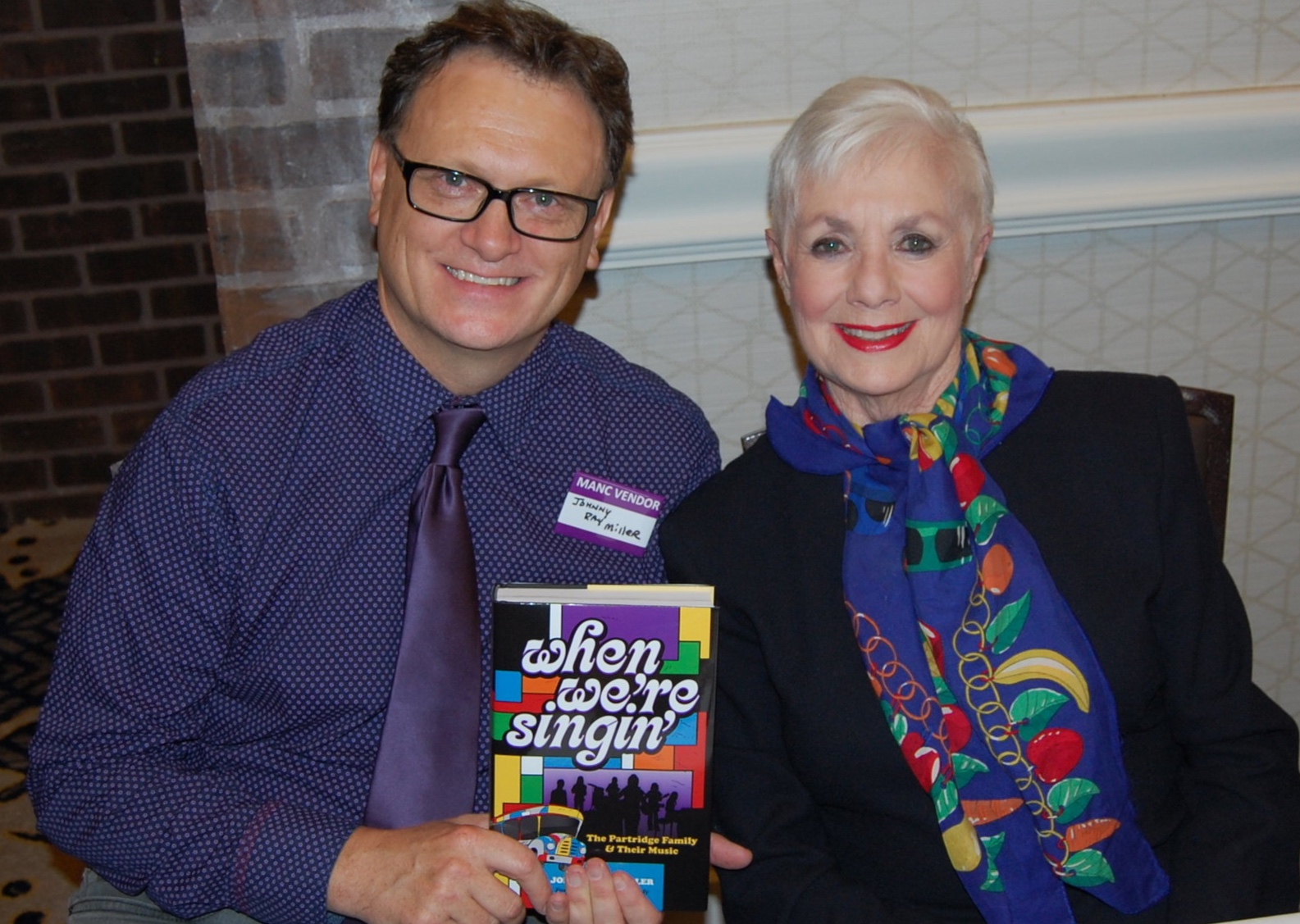 With Shirley Jones, at the very first convention I ever attended in Baltimore, Maryland, 2017.
