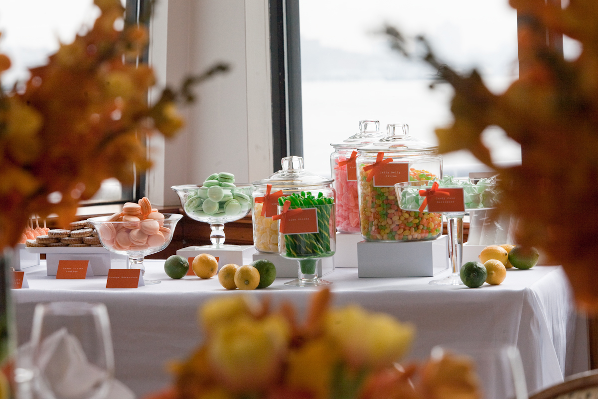 Project: Full event design, including paperie design and production, favors, and confectionary  Venue:  The Water Club   Photo:  Lyn Hughes Photography