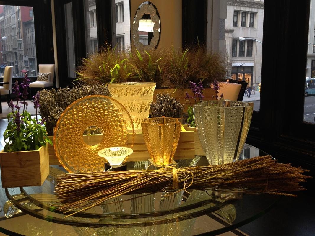 Provence setup at Lalique Showroom