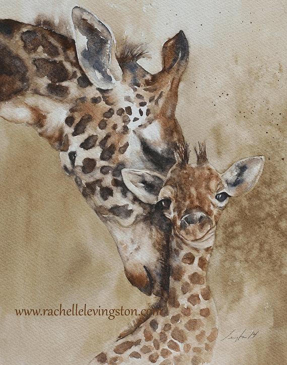 Giraffe Print by Rachelle Levingston