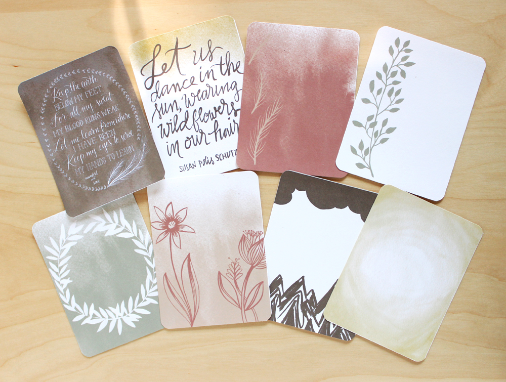 Rustic Earth - Project Life/Scrapbooking cards by Daughter Zion Designs