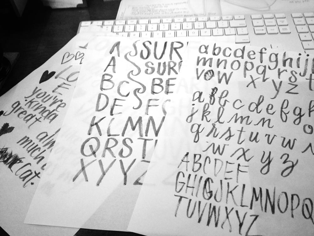 brush lettering alphabet sampler