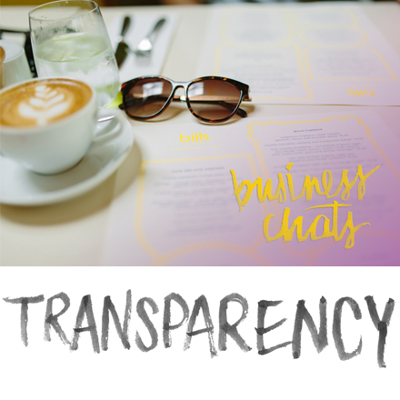 Business Chats: Transparency