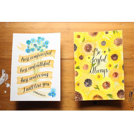 Recent Custom Work - Sunflowers and Underoath
