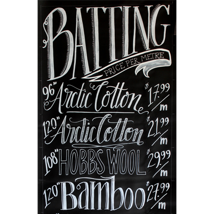 Chalkboard Signs and Quilt Shops
