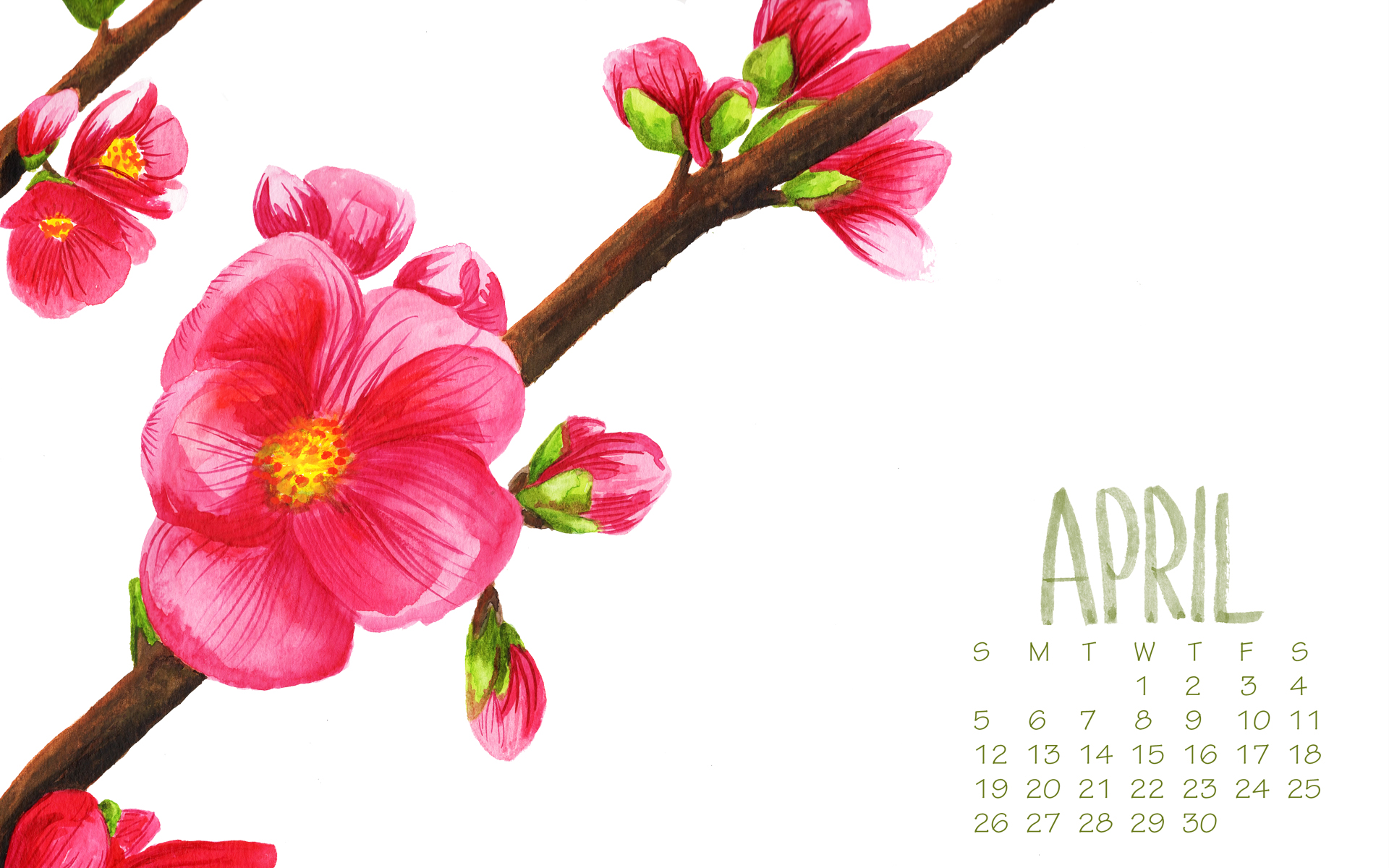 april 2015 desktop wallpaper by Daughter Zion Designs free download