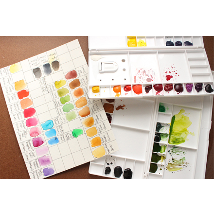 Watercolour Paints - Palette and Swatches
