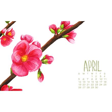 April Phone & Desktop Wallpaper - Free Download