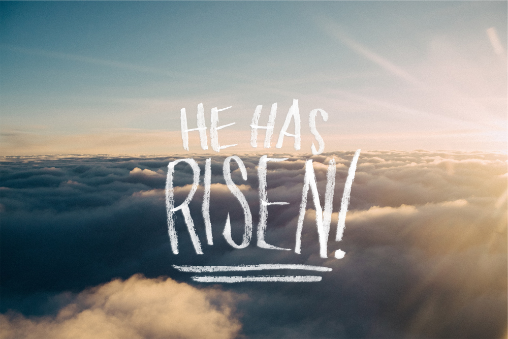 He Has Risen - Brush Lettering by Daughter Zion Designs