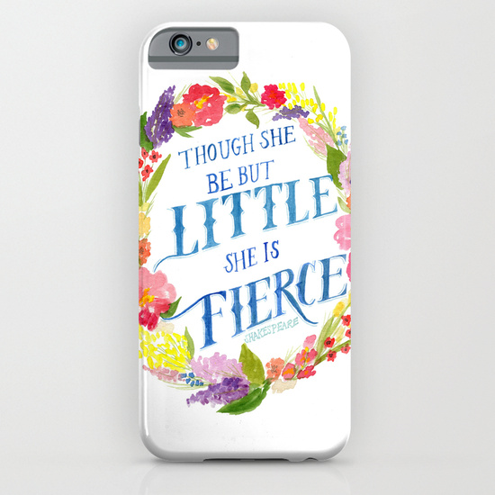 She is Little and Fierce - Phone Case - Society6 - Daughter Zion Designs