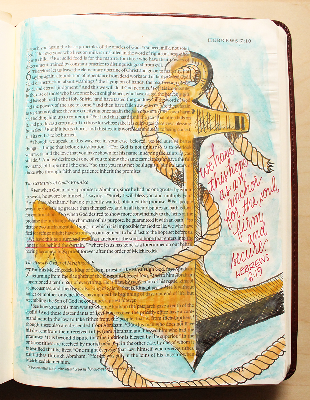 Anchor of Hope - Illustrated Faith by Daughter Zion Designs