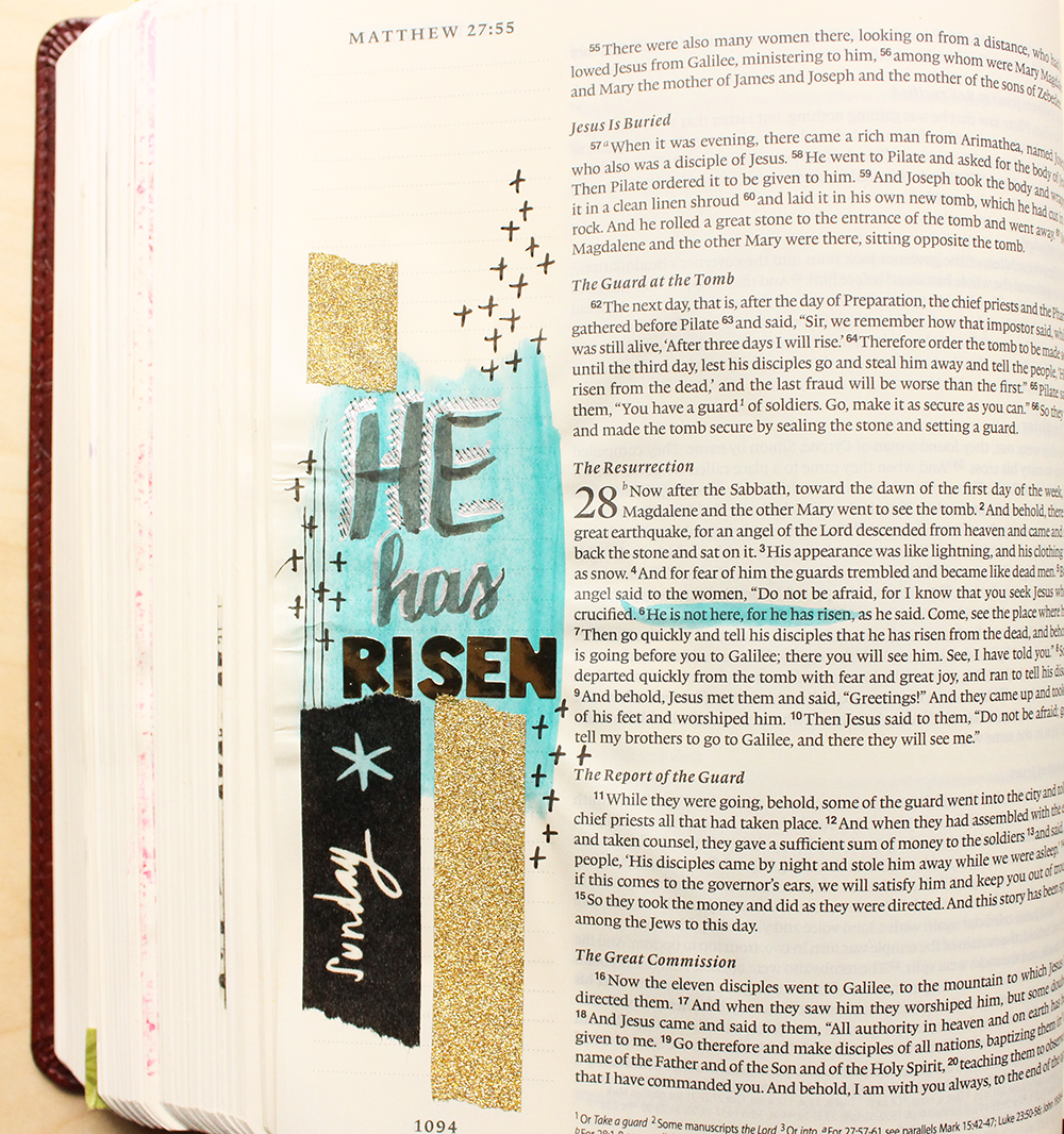 He Has Risen -  Illustrated Faith by Daughter Zion Designs