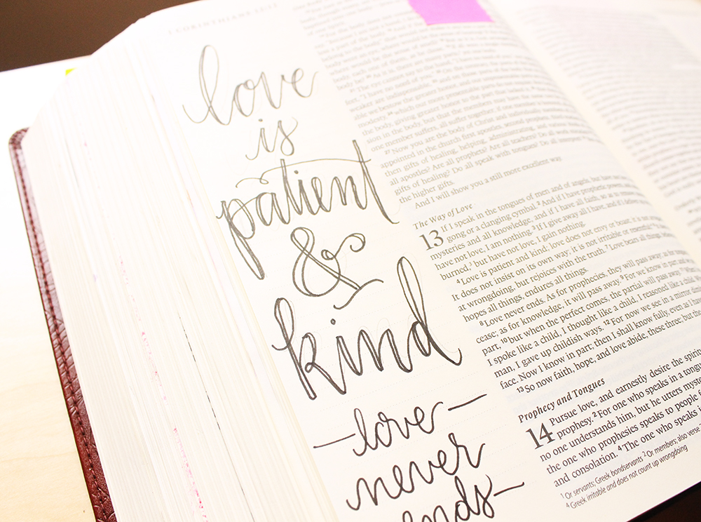 Love is Patient and Kind - Illustrated Faith by Daughter Zion Designs