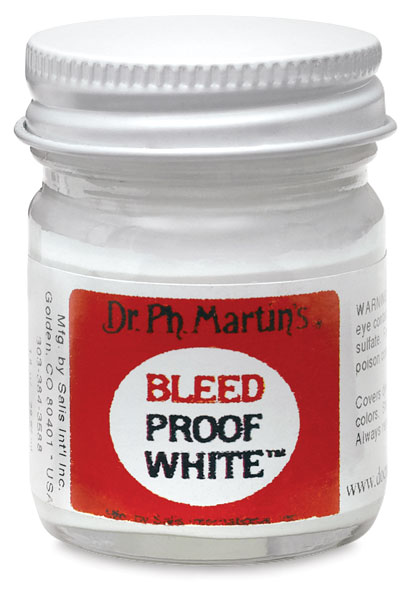 Dr. Ph. Martin's Bleed Proof White (available at  Curry's  in Canada, or online at  Paper Ink Arts )