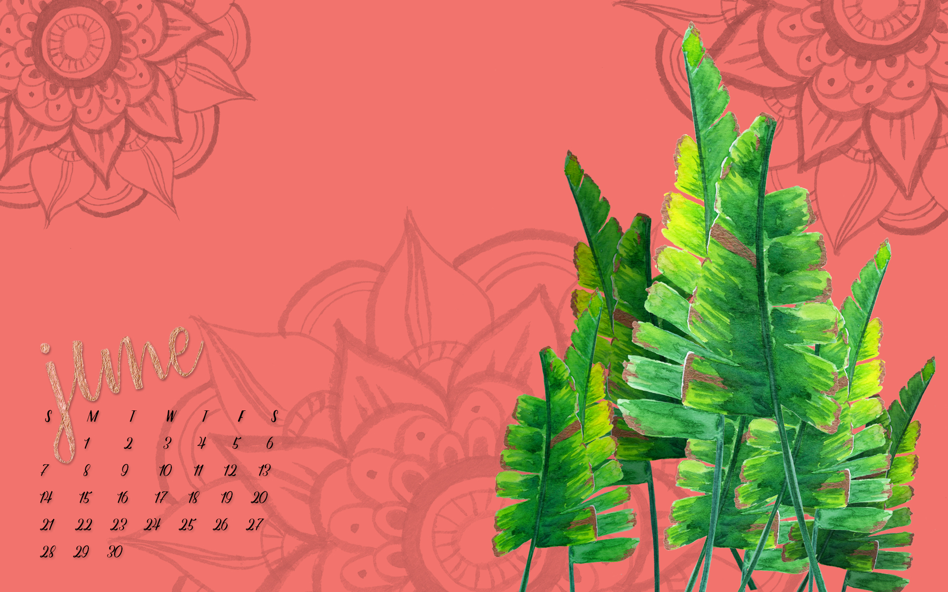 June Desktop Wallpaper - Free Download - by Daughter Zion Designs