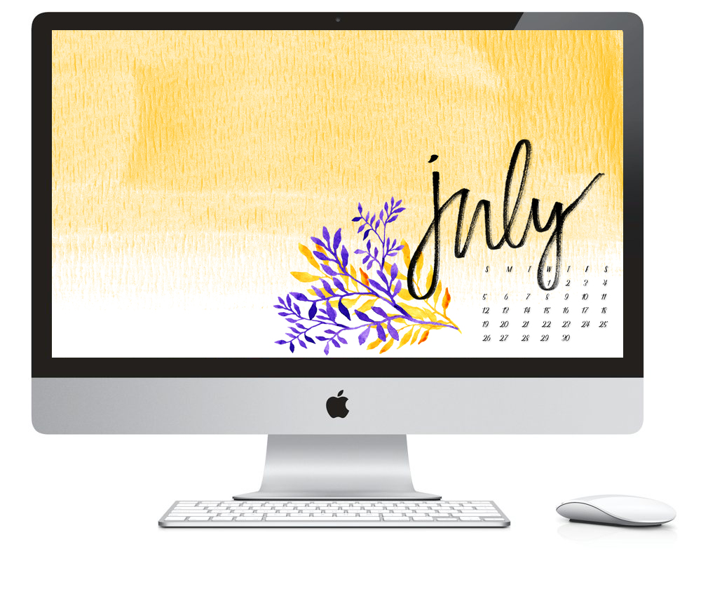 July 2015 Desktop Wallpaper Free Download by Daughter Zion Designs