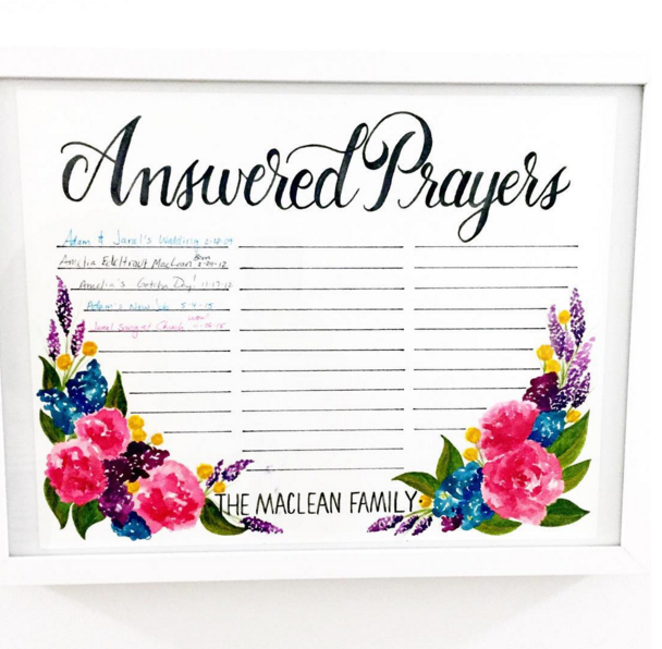 Answered Prayers (photo by Janel MacLean) - Daughter Zion Designs