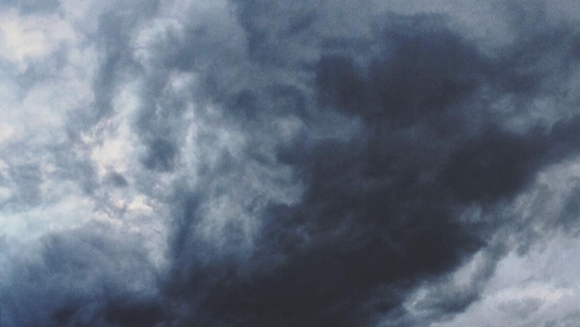 Distant thunder, menacing.