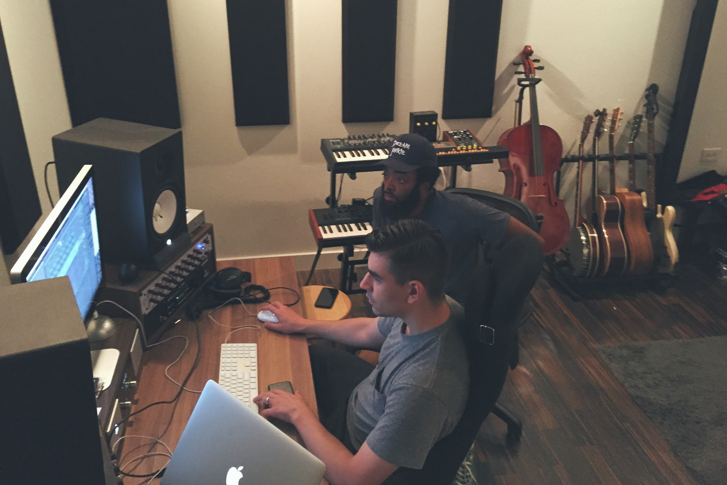 Hip-hop craftsmanship: I lost track of time while observing Braille and JGivens work on one of the standout tracks of JGiven's album  Fly Exam.