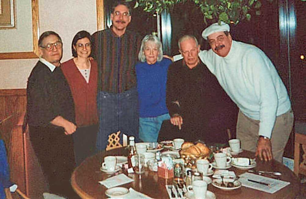 (1999 - 2001)  Suburban Motel tenants and Gail Schechter meet at Seven Brothers Restaurant. One resident lived in her car before finding housing in the motel. Another was a Holocaust survivor.