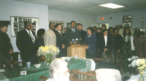 RELATE also denounced racial profiling by police against African Americans and Latinos on the North Shore and worked with Rev. Jesse Jackson and Rainbow PUSH to host a national hearing on the topic at St. Paul AME Church in Glencoe, presided over by Rep. John Conyers. (2000)