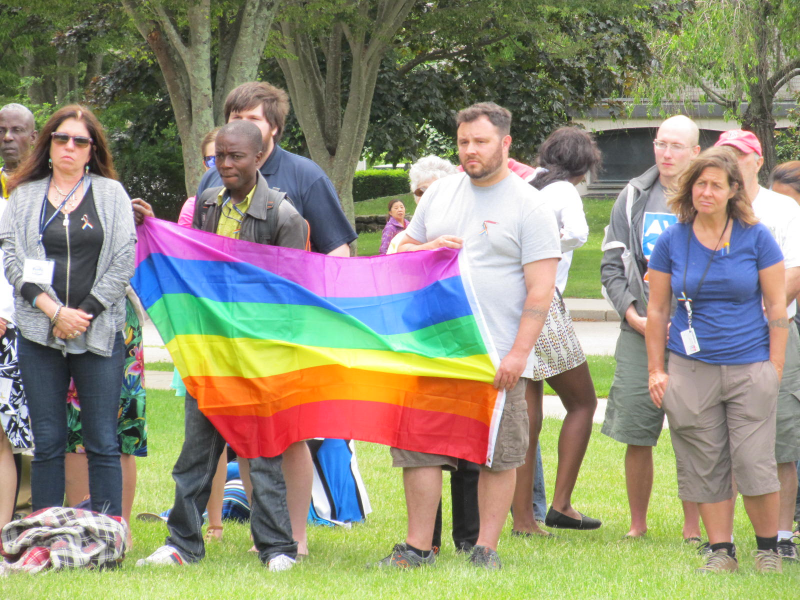 Vigil at the University of Rhode Island for the Orlando victims, June 13, 2016