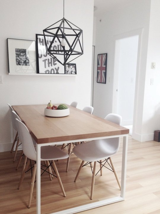 """This Nordic-inpired dining room is our most re-pinned pin on our Pinterest board. We found it on Apartment Therapy in a post titled, """"Dani's lovely Canadian Condo"""".Image credit: Dani"""
