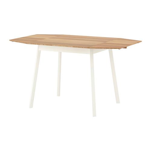 IKEA PS2012 Drop Leaf Table in Bamboo/White. Image via IKEA.