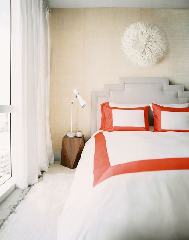 Swap in new bedding each season for a quick, simple change with big impact in your bedroom. Source: Lonny