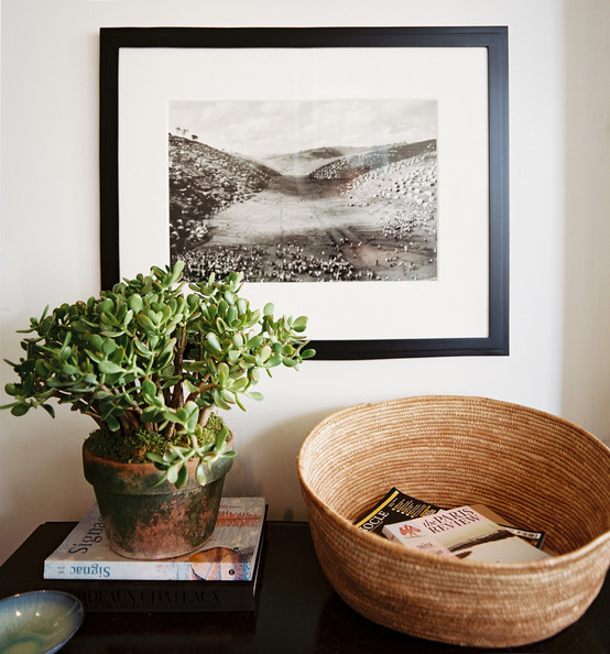 Jade is the perfect addition to this simply styled table top. Image Source: Lonny