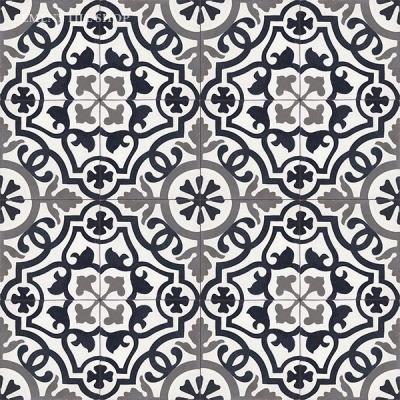 Source:  Cement Tile Shop  - Amalia Black  Tile (  12 8x8 tiles per box  =  $82.80,  Est. fo  r 1,100 sq. ft. / ~209 boxes =  $17,305.20  )