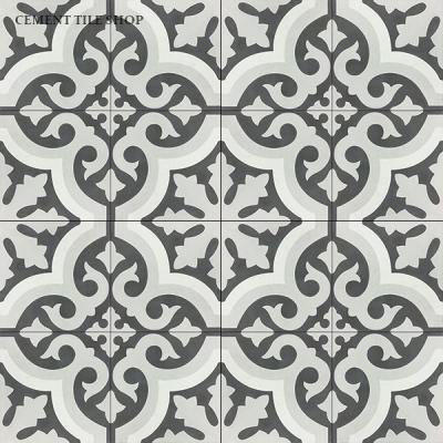 Source:  Cement Tile Shop   -    Kyra II   Tile (  12 8x8 tiles per box  =  $82.80  ,  Est. fo  r 1,100 sq. ft. / ~209 boxes =  $17,305.20  )