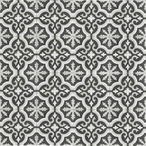 Source: Cement Tile Shop   -  Bordeaux III    Tile  ( 12 8x8 tiles per box  =  $82.80  ,  Est. fo  r 1,100 sq. ft. / ~209 boxes =  $17,305.20  )