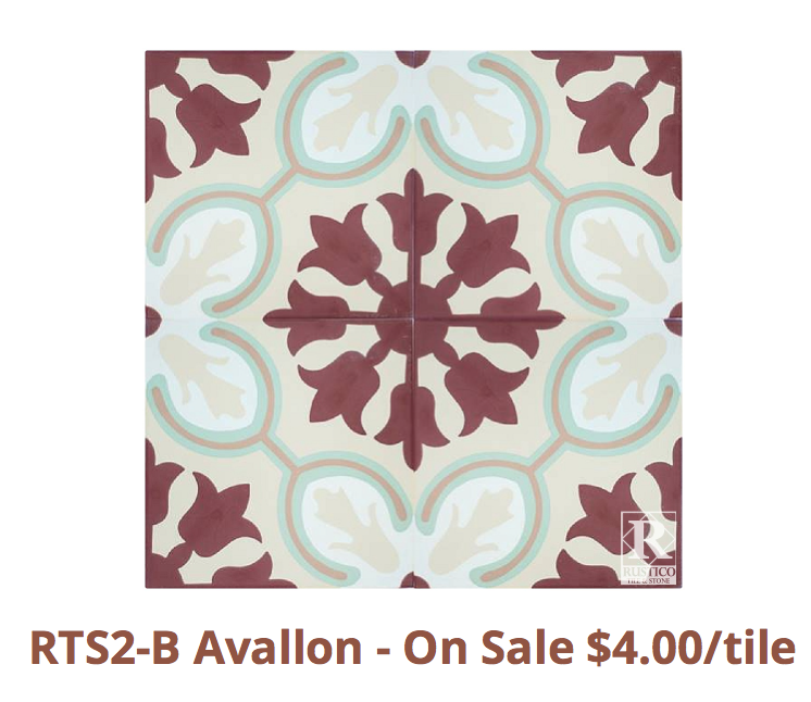 This color is in stock and on Flash Sale for $4.00 per tile or $6.00 per square foot.   https://rusticotile.com/cement-tile/mealu-collection-stock-cement-tile/