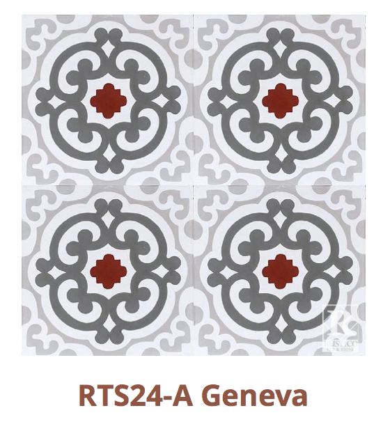 This tile is in stock and on sale for $5.50 per tile or $8.25 per square foot.   https://rusticotile.com/cement-tile/mealu-collection-stock-cement-tile/