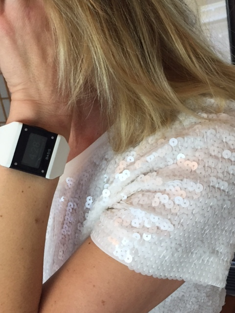 Basis Watch with vintage sequin top