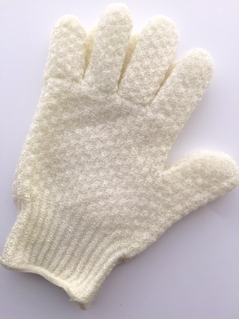 Exfoliating Glove. A similar version is  Earth Therapeutics Exfoliating Hydro Gloves