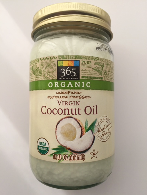 Organic Coconut Oil from  Whole Foods