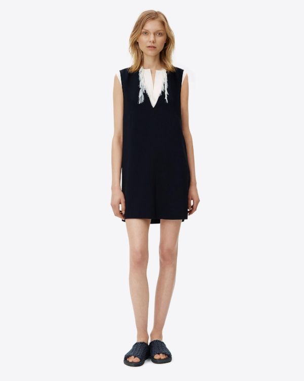 Helmut Lang - Deep V Neck Dress