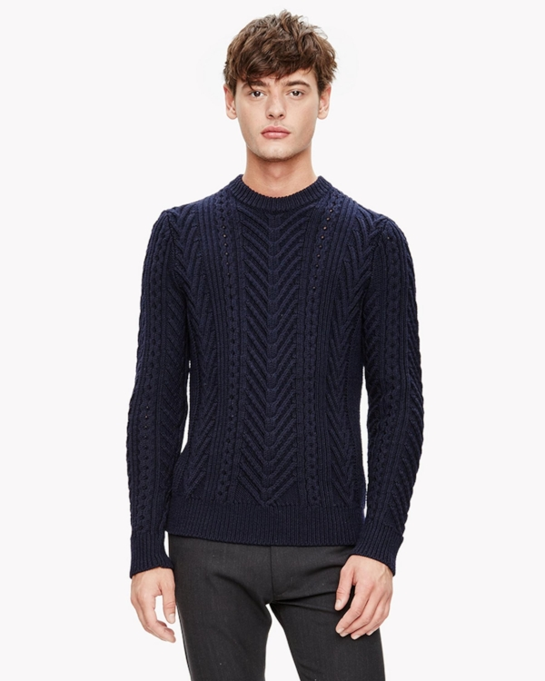 Theory - Cable Knit Crew