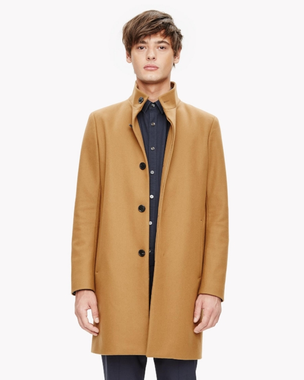 Theory - Melton Stand Collar Coat
