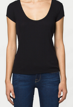 FRAME Scoop Back Tee