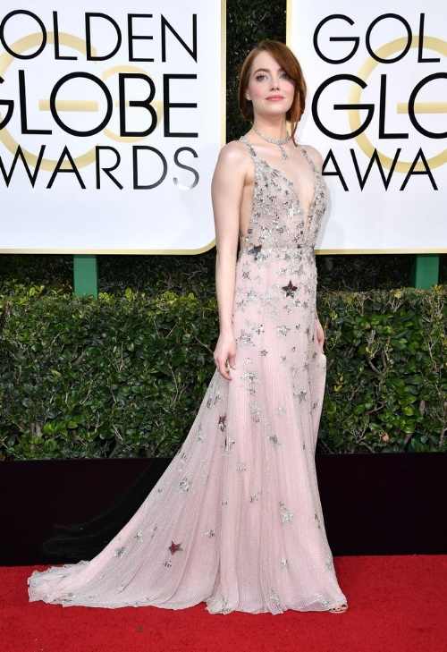 Emma Stone Golden Globes 2017 - Valentino Gown