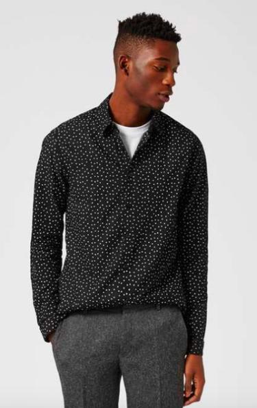 Topman Star Print Shirt