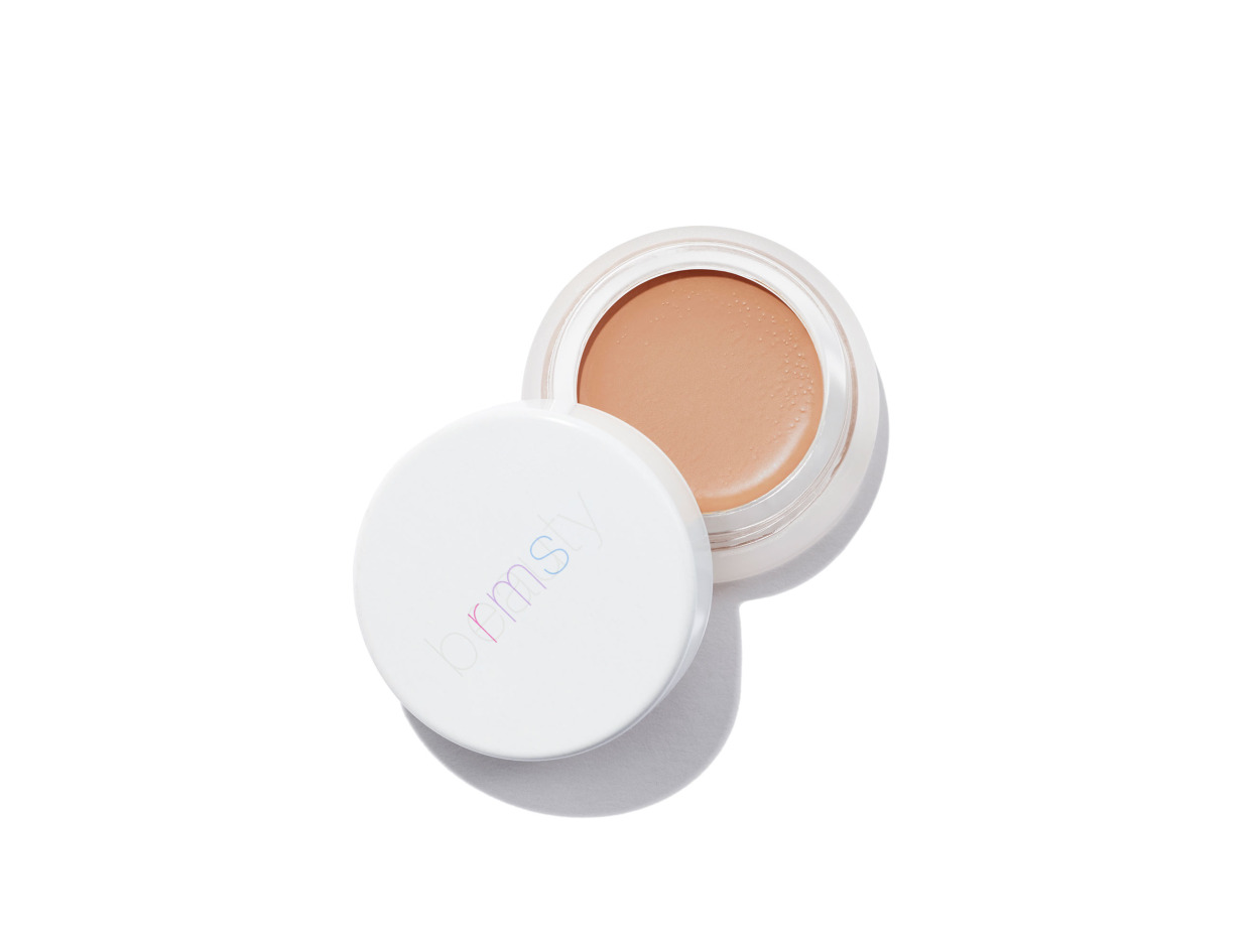 - RMS concealer is key to creating a flawless look. This concealer melts into the skin and has a coconut oil base.