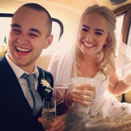 """Our very beautiful Mr and Mrs Maynard! Congratulations to you both! Eleanor looked so beautiful in her Charlotte Balbier gown. A lovely comment from our gorgeous bride below too!  """" Thanks ladies. Such a lovely place to find your perfect wedding gown x """" Eleanor Maynard"""