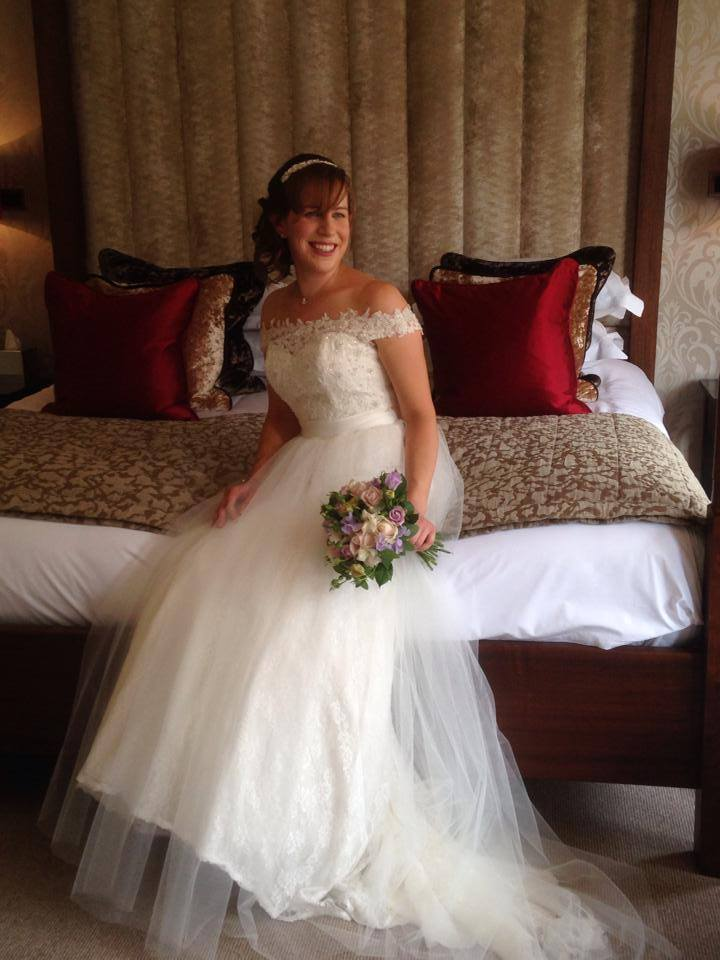 Our very striking Lizzie Clayton in a stunning Alfred Angelo gown! Fabulous photo - thank you Lizzie! x